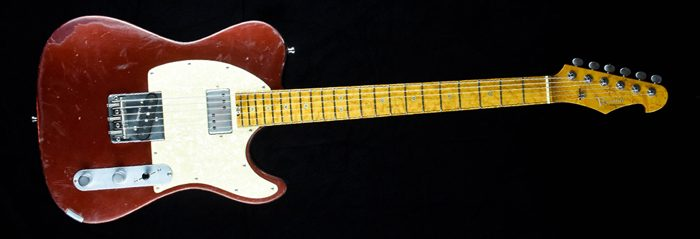 Versatile Red Candy - T-style guitar | Cyan Guitars
