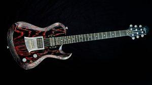 Hellcaster - Redburst - rock guitar - front view