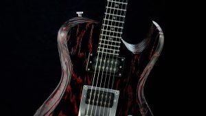 Hellcaster - Redburst - rock guitar - pickguard