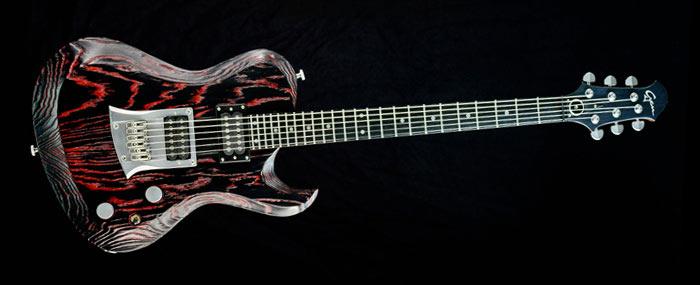Hellcaster Rock Guitar - Redburst - custom made guitar
