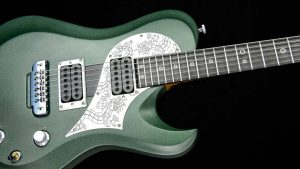 Ultimate - Green Dragon - rock & metal guitar - pickguard with dragon engraving