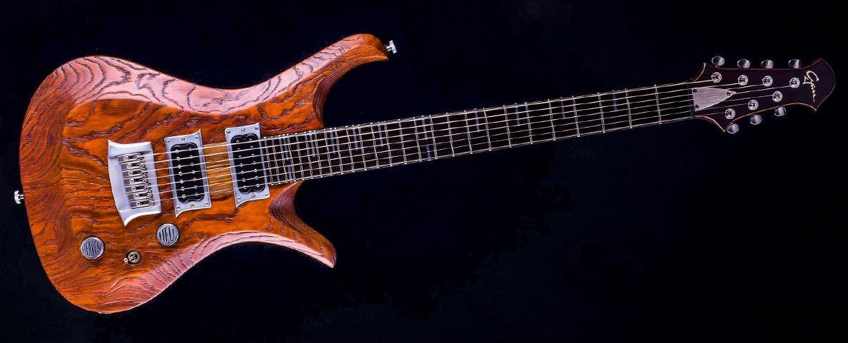 "V7 - 29"" 7-String guitar - baritone - Tobaccoburst"