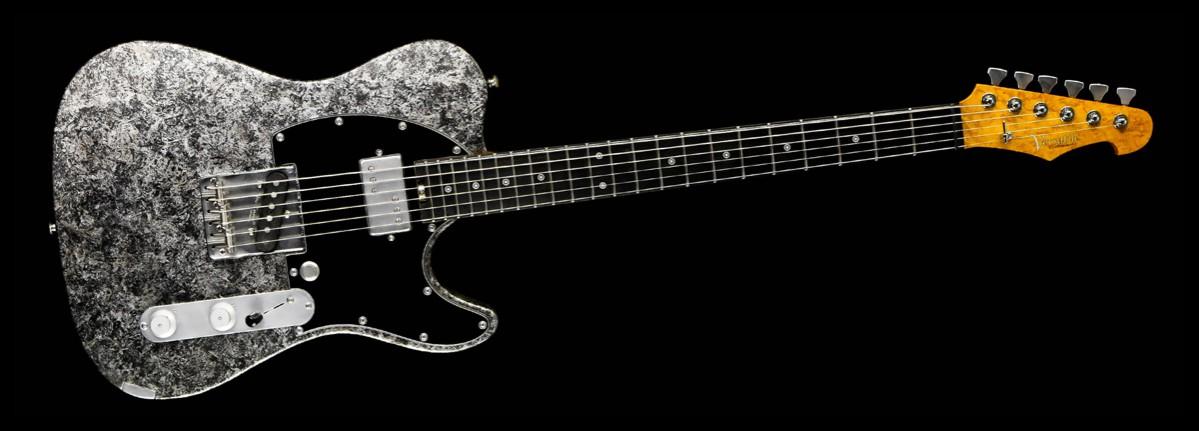 Versatile T-style guitar - Silver Camo - Cyan Custom Guitars