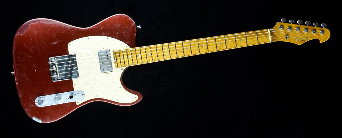 Versatile T-style guitar - Red Candy | Cyan Guitars