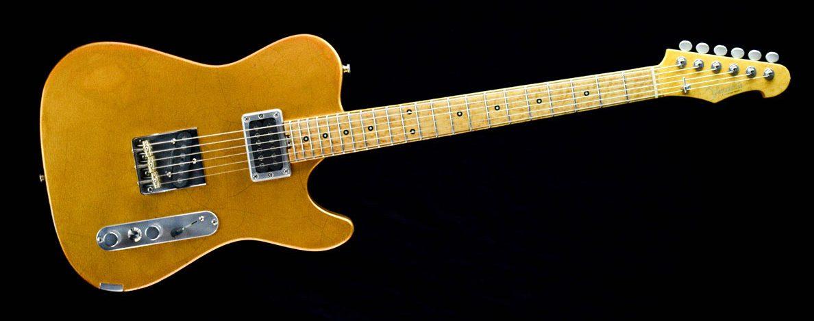 Versatile T-style guitar - Golden Eye | Cyan Guitars