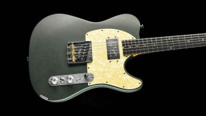 Versatile T-style guitar - Green Classic - front view