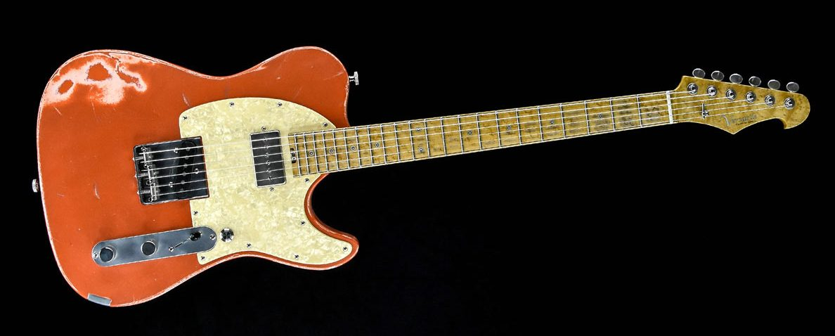 Versatile T-style guitar - Orange Drop | Cyan Guitars