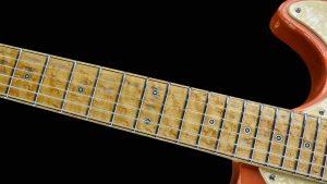 Versatile - Custom Guitar - Orange Drop - fingerboard