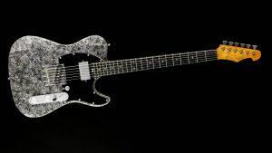 Versatile T-style guitar - Silver Camo - Custom Guitars