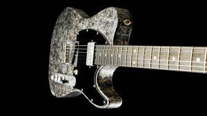 Versatile T-style guitar - Silver Camo - Custom Guitars - Single Cutaway