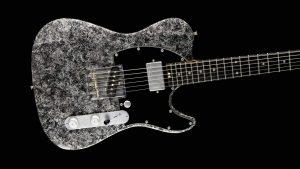 Versatile T-style guitar - Silver Camo - Custom Guitars - Body Front