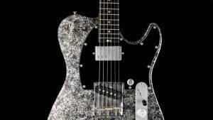 Versatile T-style guitar - Silver Camo - Custom Guitars - Pickguard