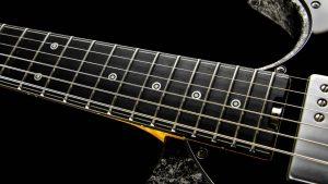 Versatile - Silver Camo - Custom Guitars - fingerboard