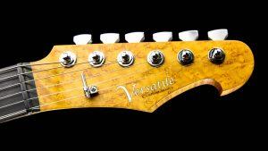 Versatile - Silver Camo - Custom Guitars - headstock | Cyan Guitars
