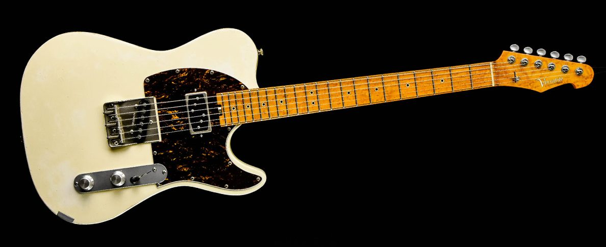 Versatile T-style guitar - Vintage White | Cyan Guitars
