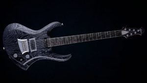 "Zodiac 7 - 30,8"" 7-String guitar baritone - Blackburst (ext. range) - front view"
