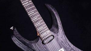 "Zodiac 7 - 30,8"" baritone guitar - Blackburst - fretboard"