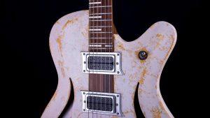 "Breed - 29"" Baritone guitar - Living Colour - pickguard"