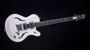 Breed - Players White - modern oldschool guitar - front view