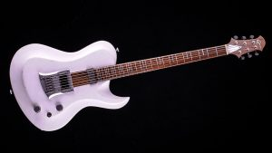 """Hellcaster - 29"""" Baritone guitar HB - Players White - front view"""
