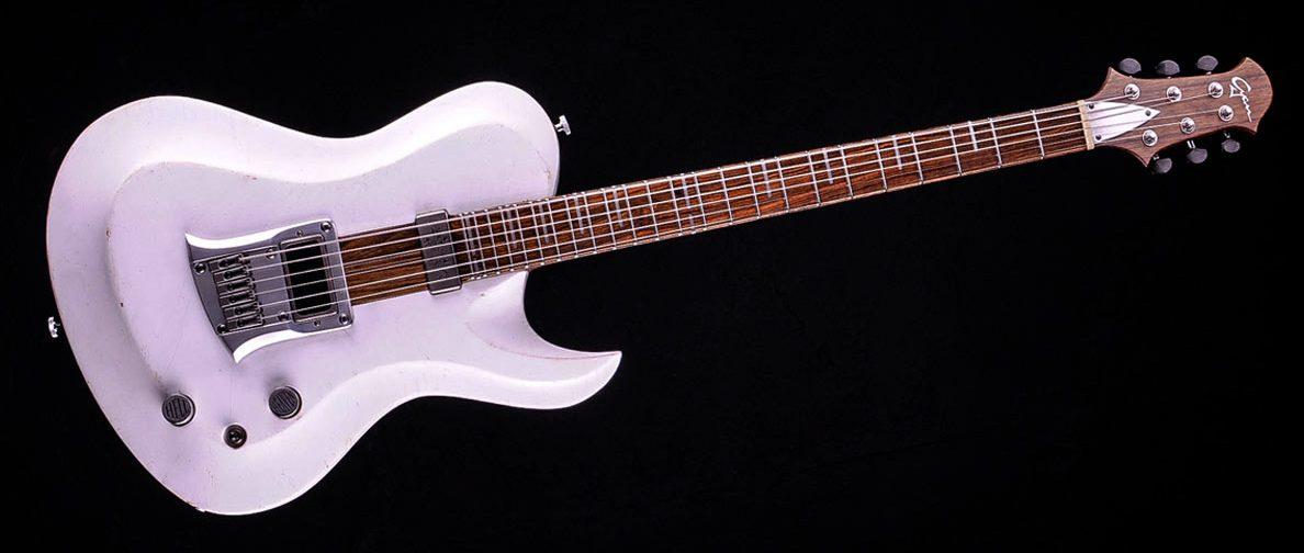 "Hellcaster - 29"" Baritone guitar HB - Players White"