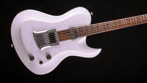 "Hellcaster - 29"" Baritone guitar HB - Players White - body"