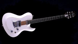 """Hellcaster - 29"""" Baritone guitar SC - Players White - front view"""