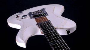 "Hellcaster - 29"" Baritone guitar SC - Players White - body"