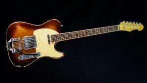 Versatile T-style guitar - Golden Bee - front view