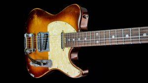 Versatile Golden Bee T-style Custom Guitar - Body Cutaway