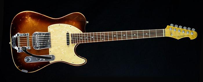 Versatile Golden Bee - T-style custom made guitar