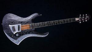 "Zodiac Excalibur - 29"" Baritone guitar - Blackburst - front view"