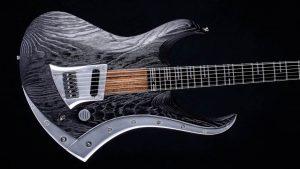 "Zodiac Excalibur - 29"" Baritone guitar - Blackburst - body with inlay"