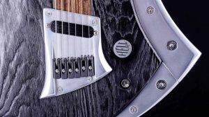 "Zodiac Excalibur - 29"" Baritone guitar - Blackburst - bridge + panel"