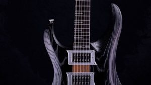 Zodiac - Blackburst - solid body guitar - pickguard