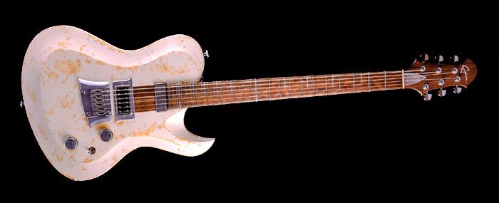 Hellcaster Baritone custom made guitar - Living Colour