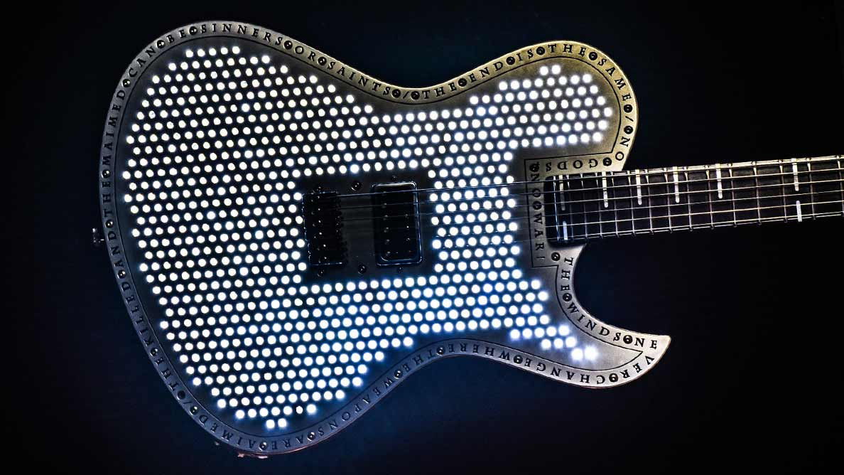 Hellcaster Baritone Empyrean - LEDs - Customized Guitar Gallery
