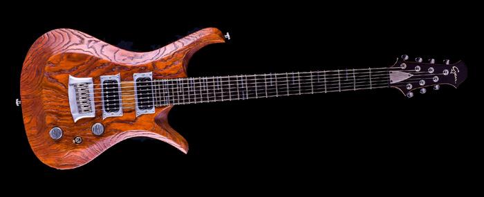 "V7 - 29"" 7-String Baritone - Tobaccoburst | Cyan Guitars"