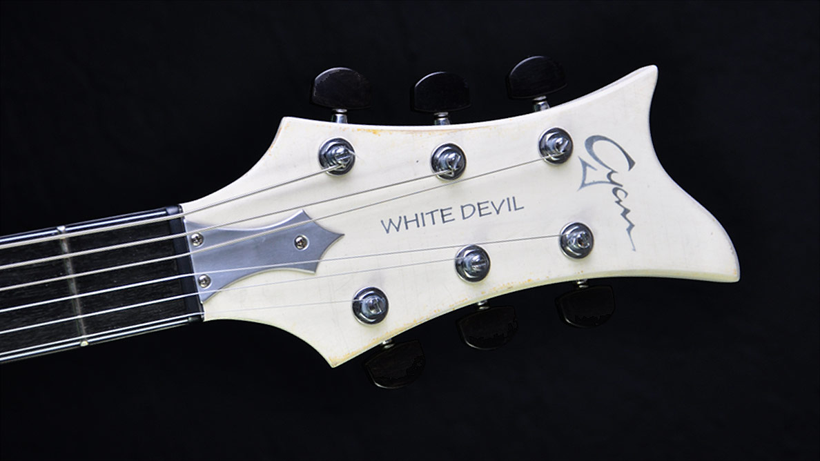 Breed - White Devil - headstock