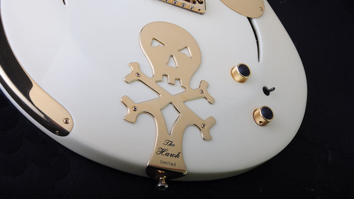Farin Urlaub Custom Guitar Gallery - White Hawk - Scull