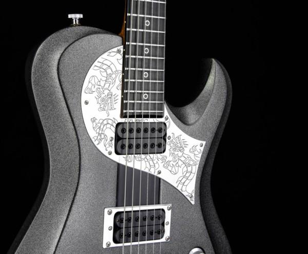 Ultimate Metal Gitarre - Silver Dragon Custom Guitar
