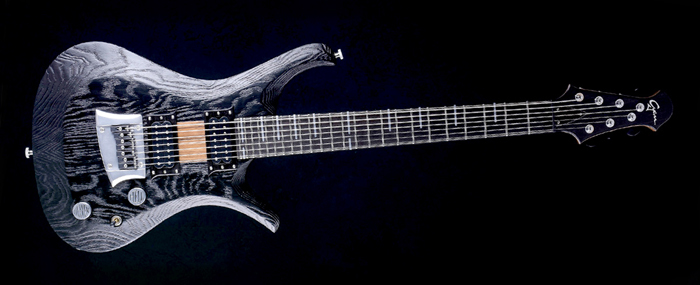 "V7 - 27,6"" Bariton Custom Gitarre - Blackburst"
