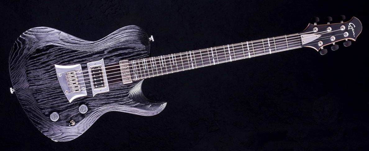 Hellcaster Rock Gitarre - Blackburst | Cyan Guitars