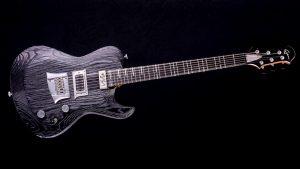 Hellcaster Rock Gitarre - Blackburst - Frontansicht
