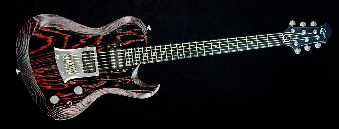 Hellcaster Rock Gitarre - Redburst | Cyan Guitars