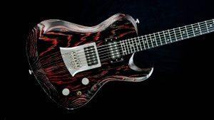 Hellcaster Rock Gitarre - Redburst - Body