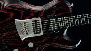 Hellcaster Rock Gitarre - Redburst - Schlagbrett + Brücke