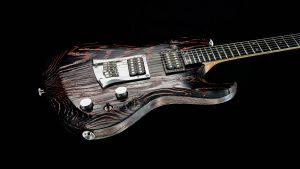 Hellcaster Rock Gitarre - Redburst - Body seitlich