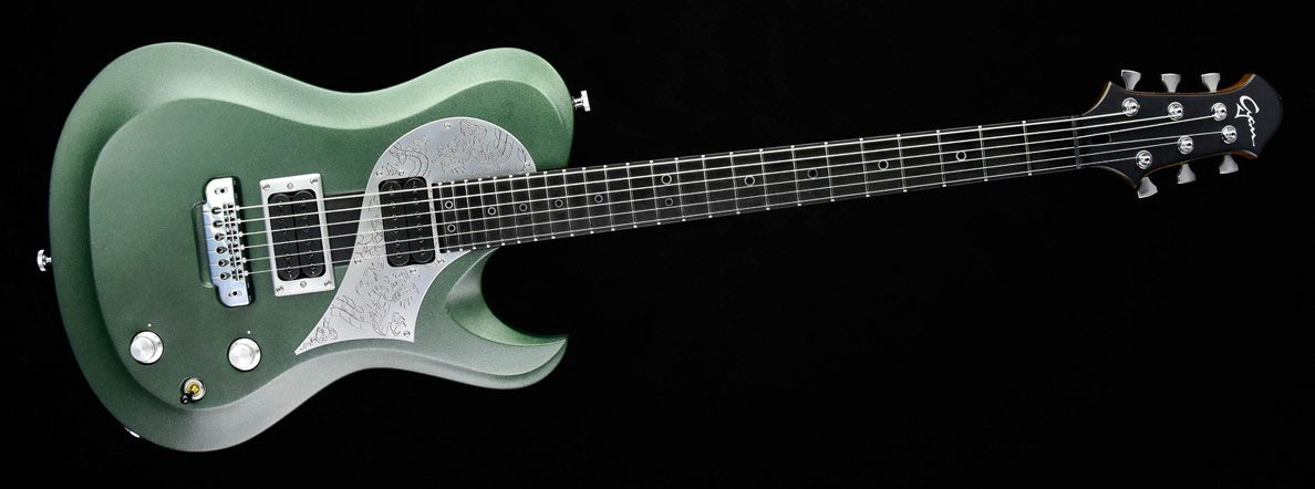 Ultimate - Green Dragon Custom Guitar - Metal Gitarre | Cyan Guitars
