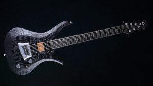 """V7 - 27,6"""" 7-String Bariton Gitarren - Blackburst - Frontansicht"""